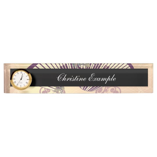 Vintage, piano with elegant, decorative floral ele name plate