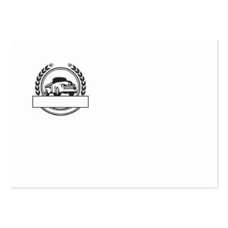 Vintage Pick Up Truck Black and White Retro Large Business Card