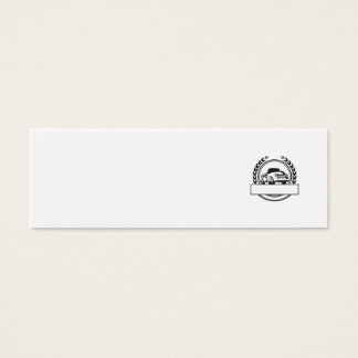Vintage Pick Up Truck Black and White Retro Mini Business Card
