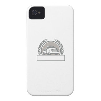 Vintage Pick Up Truck Circle Retro iPhone 4 Case