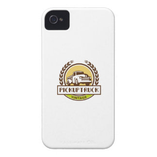 Vintage Pick Up Truck Circle Wreath Retro iPhone 4 Case-Mate Cases