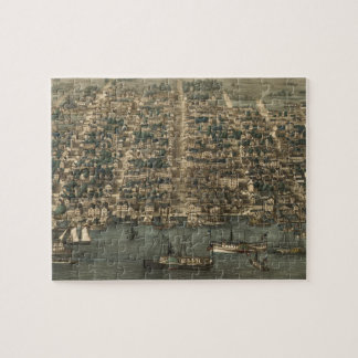 Vintage Pictorial Map of Alexandria VA (1863) Jigsaw Puzzle