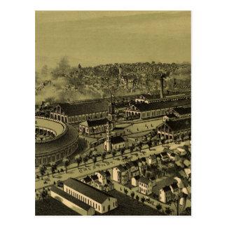 Vintage Pictorial Map of Altoona PA (1895) Postcard