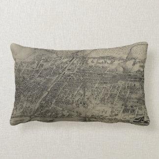Vintage Pictorial Map of Arlington NJ (1907) Lumbar Pillow