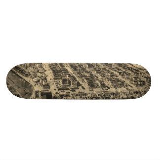 Vintage Pictorial Map of Asbury Park NJ (1910) Skate Board Decks