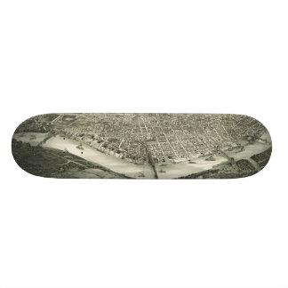 Vintage Pictorial Map of Cincinnati (1900) Skateboard Deck