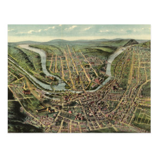 Vintage Pictorial Map of Cumberland MD (1906) Postcard