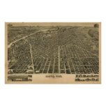 Vintage Pictorial Map of Denver CO (1889) Poster