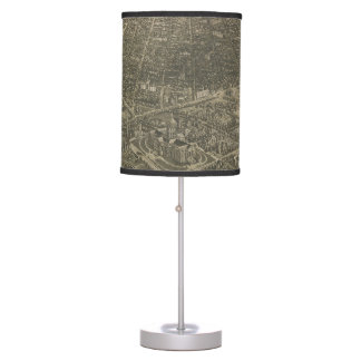 Vintage Pictorial Map of Denver Colorado (1887) Table Lamp