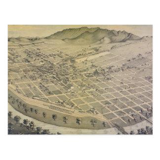 Vintage Pictorial Map of El Paso Texas (1886) Postcard
