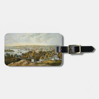 Vintage Pictorial Map of Georgetown (1855) Luggage Tag