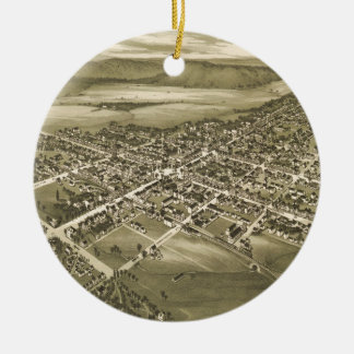 Vintage Pictorial Map of Gettysburg PA (1888) Ceramic Ornament