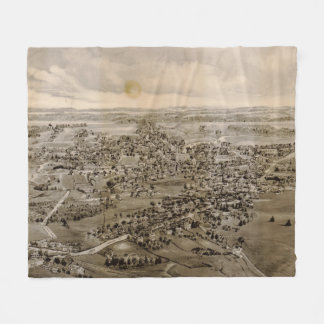 Vintage Pictorial Map of Kennebunk Maine (1895) Fleece Blanket