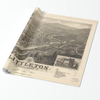Vintage Pictorial Map of Littleton NH (1883)