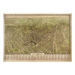 Vintage Pictorial Map of Los Angeles (1909) Poster