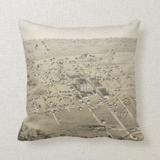 Vintage Pictorial Map of McKinney Texas (1876) Throw Pillow