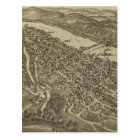 Vintage Pictorial Map of Morgantown WV (1897) Postcard
