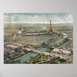 Vintage Pictorial Map of Paris (1900) Poster