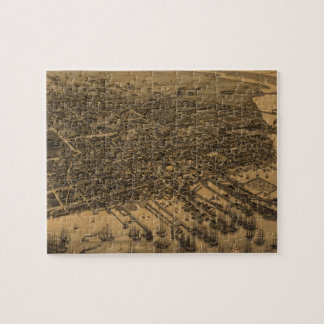 Vintage Pictorial Map of Pensacola (1885) Jigsaw Puzzle