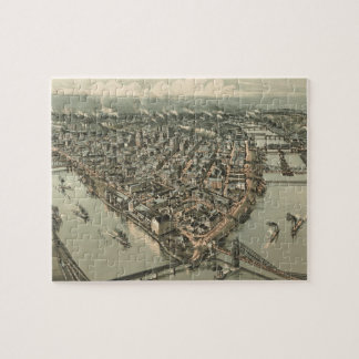 Vintage Pictorial Map of Pittsburgh (1902) Jigsaw Puzzle