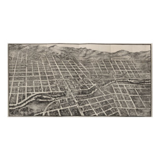 Vintage Pictorial Map of Reno Nevada (1907) Poster