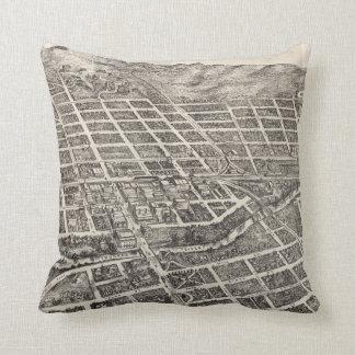 Vintage Pictorial Map of Reno Nevada (1907) Throw Pillow