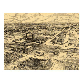 Vintage Pictorial Map of Southern Milwaukee (1906) Postcard