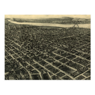 Vintage Pictorial Map of Tulsa (1918) Postcard