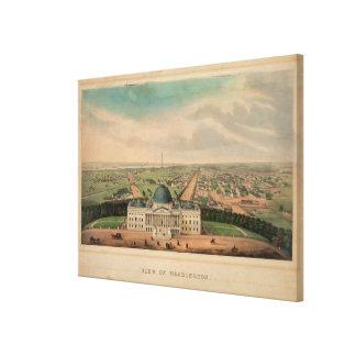 Vintage Pictorial Map of Washington D.C. (1880) Canvas Print