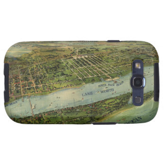 Vintage Pictorial Map of West Palm Beach (1915) Galaxy SIII Cases