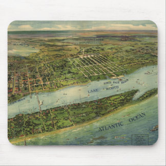 Vintage Pictorial Map of West Palm Beach (1915) Mousepad