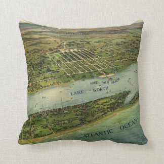 Vintage Pictorial Map of West Palm Beach (1915) Pillows