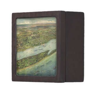 Vintage Pictorial Map of West Palm Beach (1915) Premium Gift Boxes