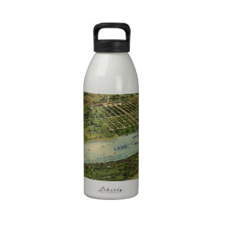 Vintage Pictorial Map of West Palm Beach (1915) Reusable Water Bottle
