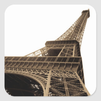 Vintage picture of the Eiffel Tower Square Sticker