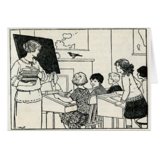 Vintage Picture Teacher Customizable Thank You Card