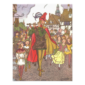 Vintage Pied Piper of Hamelin Fairy Tale by Hauman Personalized Announcements