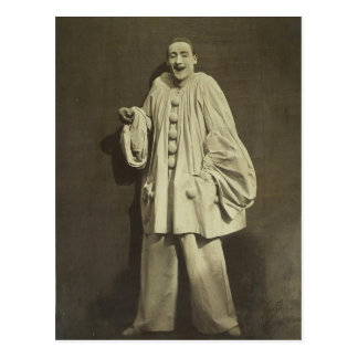 Vintage Pierrot Clown Postcard