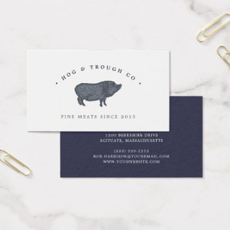 Vintage Pig Business Card