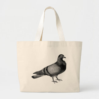 Vintage Pigeon gifts Large Tote Bag