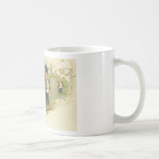Vintage Pigs Wedding Classic White Coffee Mug