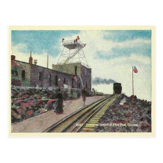 Vintage Pikes Peak Colorado Postcard