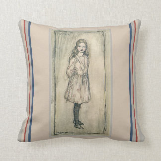 VINTAGE PILLOW, ALICE IN WONDERLAND LEWIS CARROLL THROW PILLOW