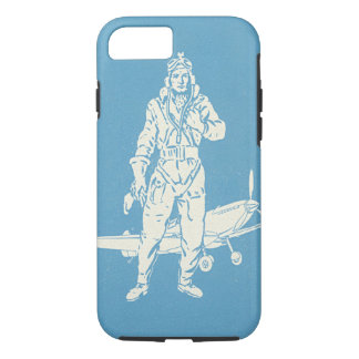 Vintage Pilot and Airplane Art iPhone 7 Case