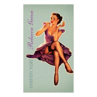 vintage pin up girl beauty salon makeup artist pack of standard business cards