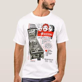 Vintage Pinball Ad 9 Sisters T-Shirt