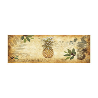 Vintage Pineapple Canvas Wall Art