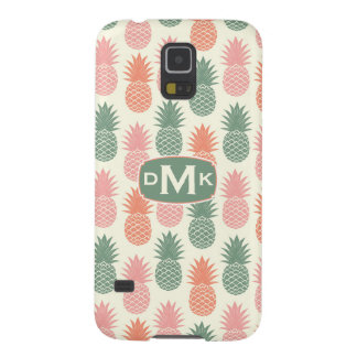 Vintage Pineapple Pattern | Monogram Galaxy S5 Covers