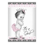 Vintage Pink and Grey Baby Girl Shower