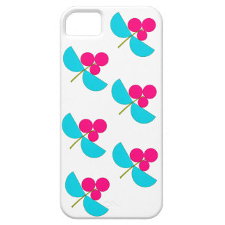 Vintage pink and turquoise flowers iPhone 5 covers